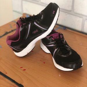 RYKÄ Black & Pink Stryde Walk Running Shoe